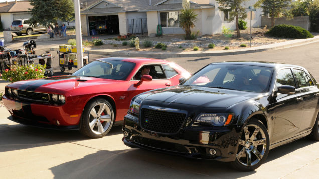 Father-son moments, with Chrysler 300 SRT8 and Dodge Challenger SRT8