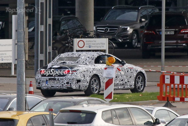 2016 Mercedes C Class Convertible Spy Photos, Photo Credits: Topspeed.com