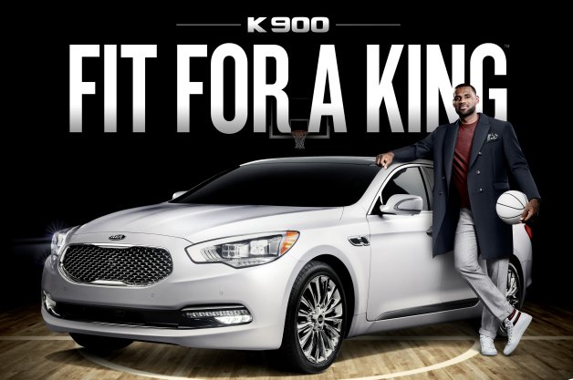 Lebron James Kia K900 New Endourser