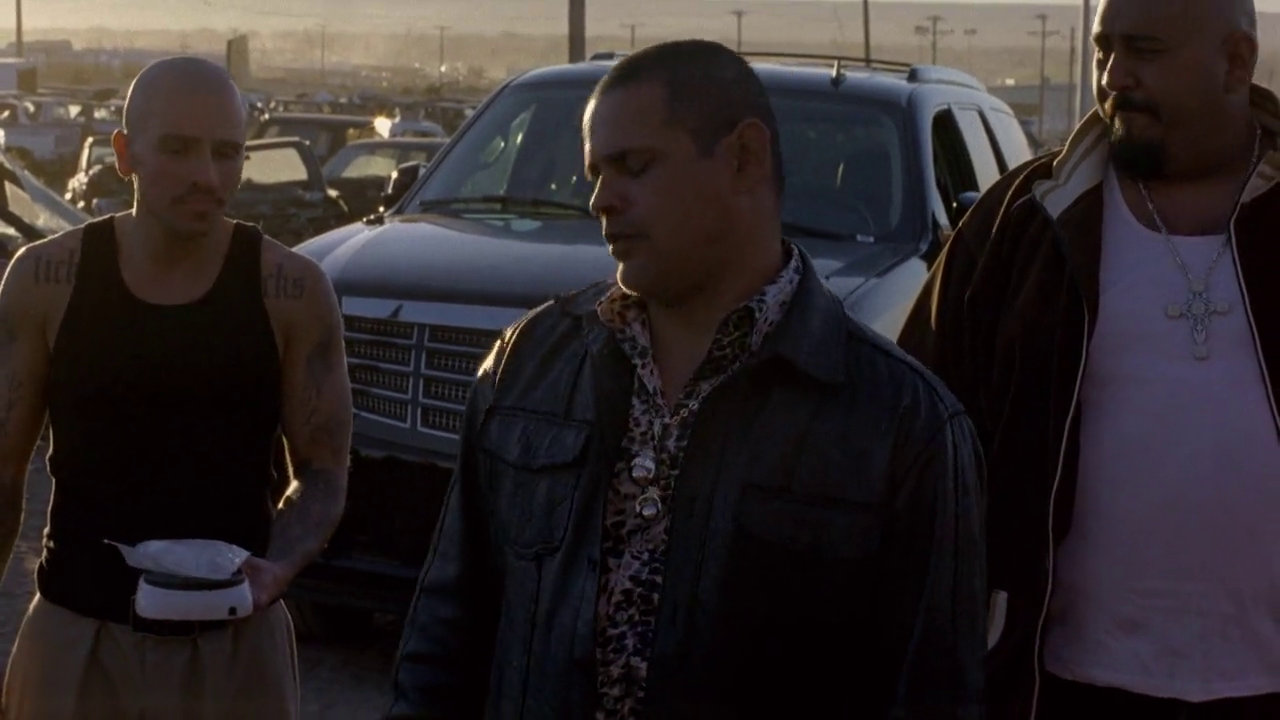 Tuco's Escalade in the back