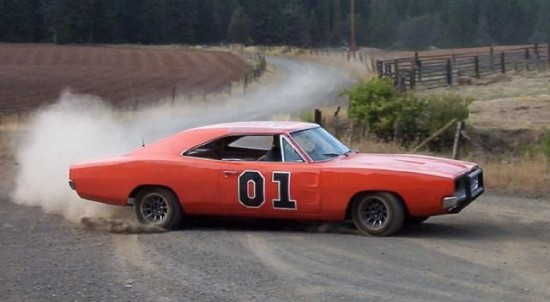 "Famous ""General Lee"" 1969 Dodge Charger from The Dukes of Hazard series."