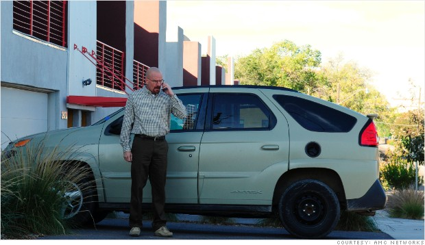 Breaking Bad cars Walter White Pontiac Azetc