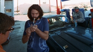 Mustang, in scene of his short movie called The Hitchhiker