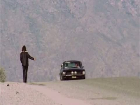 Hitchhiking Scene from HWY, With Jim Morrison's Shelby Mustang