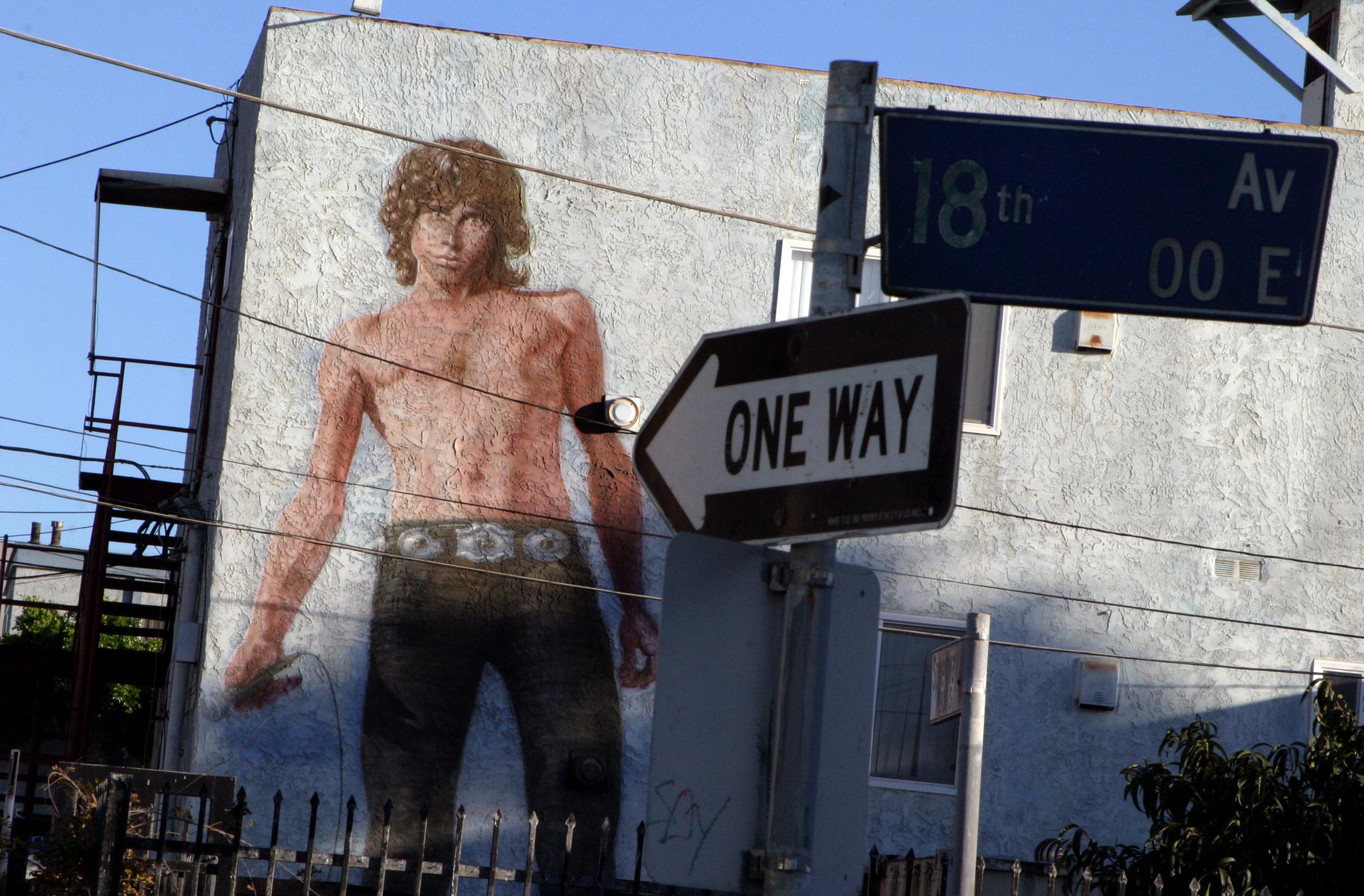 Jim Morrison Mural In LA