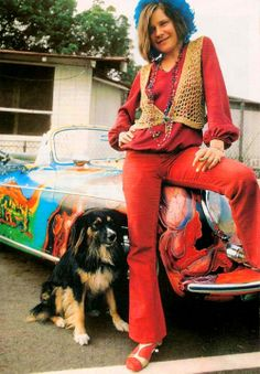Janis Jopplin and Her Porsche