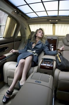 Kaley Cuoco from Big Bang Theory in 2016 Mercedes Maybach S600