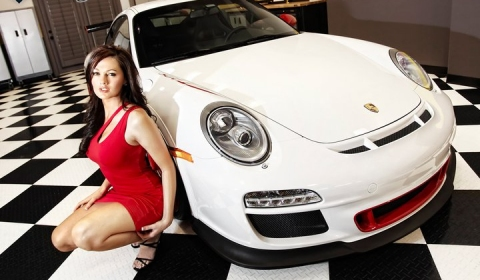 Porsche 911 Carrera and a hot girl