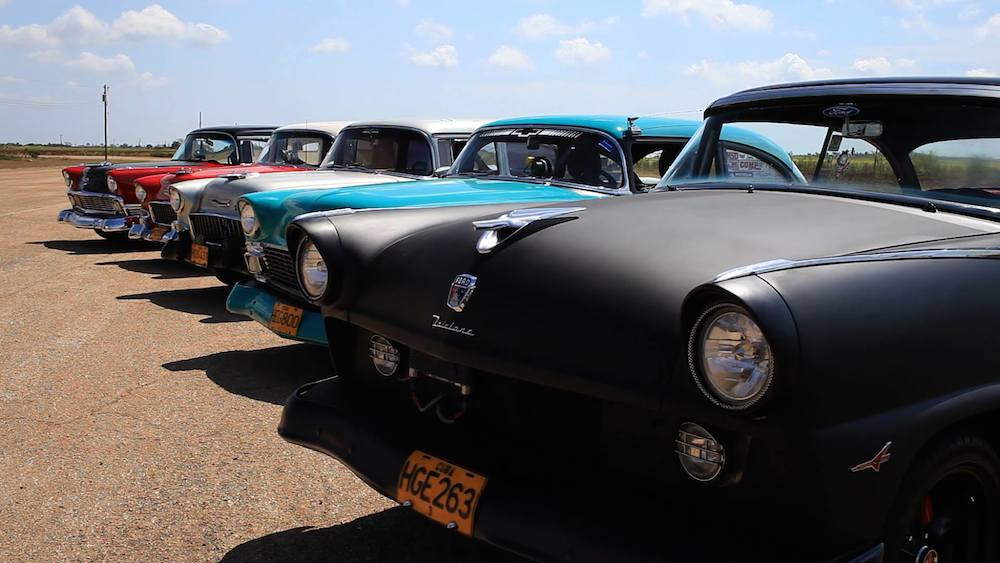 First Drag race in Havana in last 50 years