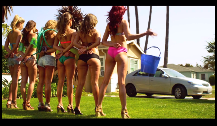 Hot girls washing Toyota Camry. Photo credits: http://www.autoevolution.com/news/toyota-camry-gets-washed-by-hot-girls-video-61573.html