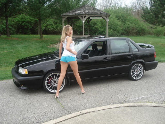 Hot girl and Volvo