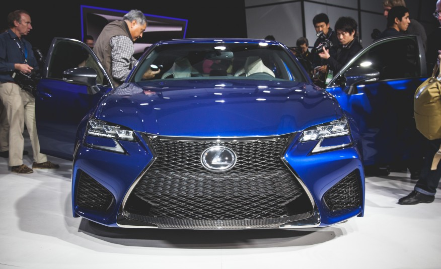 2016 Lexus GS F front fascia on 2015 NAIAS
