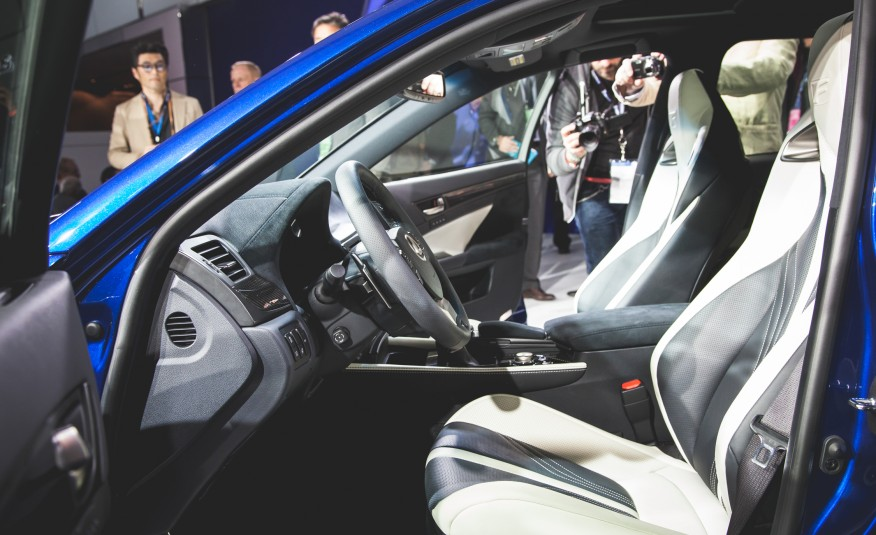 2016 Lexus GS F interior on 2015 NAIAS