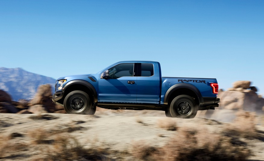 2017 Ford F150 Raptor Profile in the dessert
