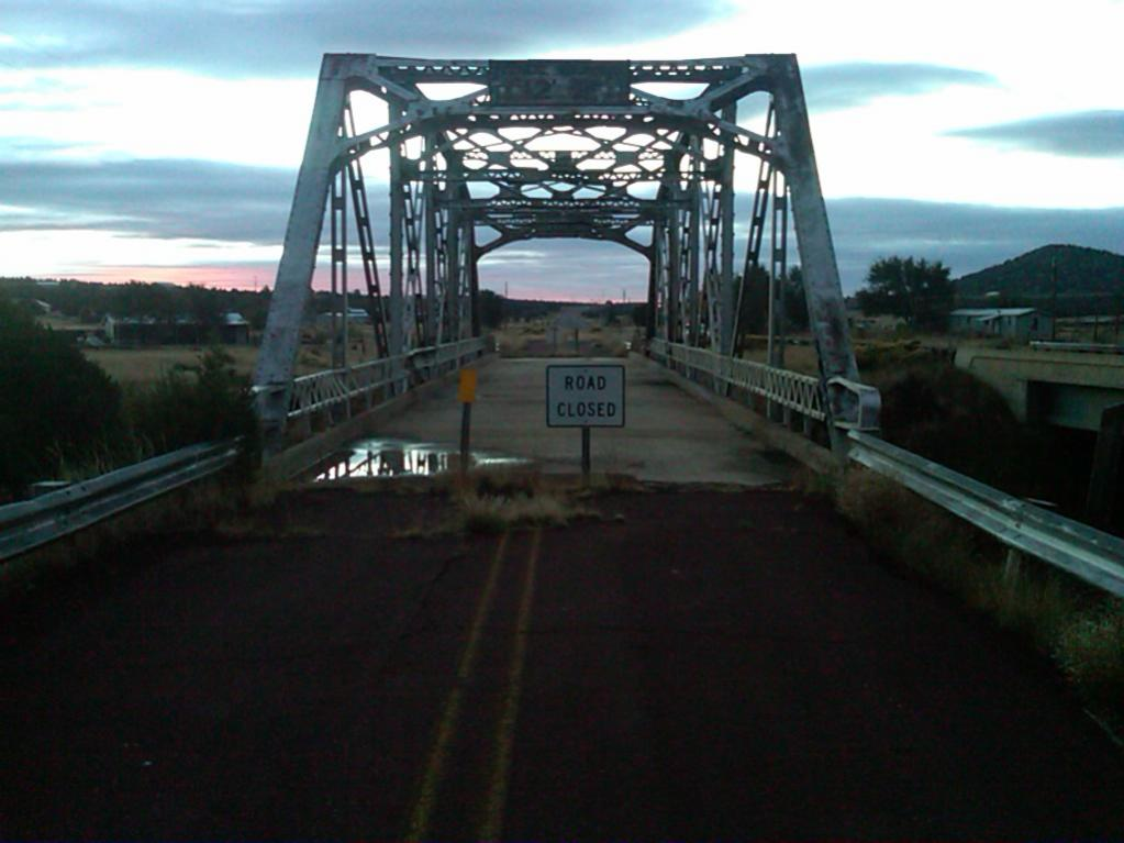 Ghost bridge near Winona. Photo credits: El Burro Camaro from Ghst Town Forum