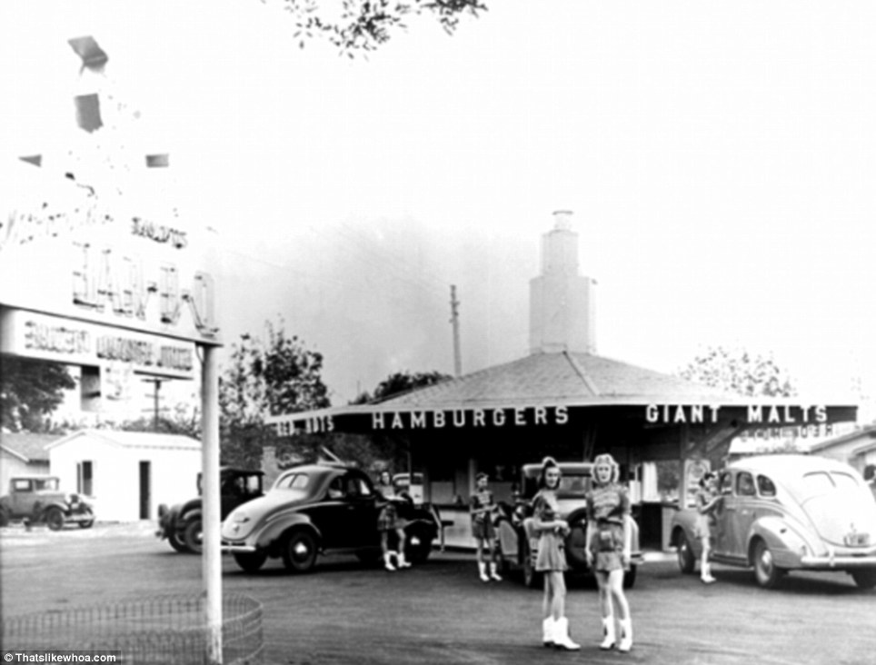 First McDonald's in San Bernardino. Photo credits Daily Mail
